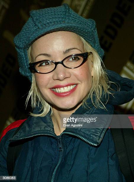 Actress Janeane Garofalo attends the OffBroadway opening night of Embedded at the Public Theater's Newman Theater March 14 2004 in New York City