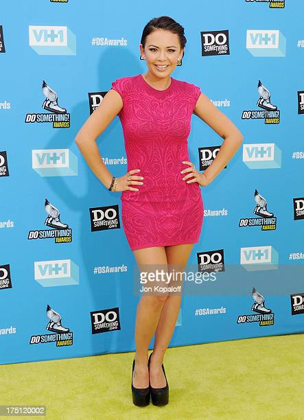 Actress Janel Parrish arrives at the 2013 Do Something Awards at Avalon on July 31 2013 in Hollywood California