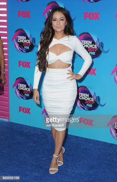 Actress Janel Parrish arrives at the Teen Choice Awards 2017 at Galen Center on August 13 2017 in Los Angeles California