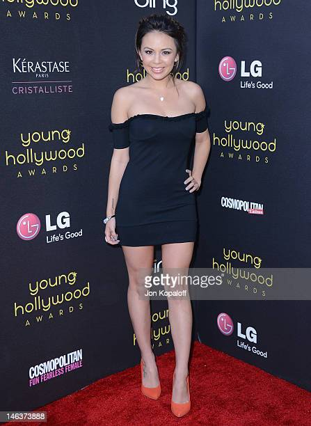 Actress Janel Parrish arrives at the Young Hollywood Awards at Hollywood Athletic Club on June 14, 2012 in Hollywood, California.