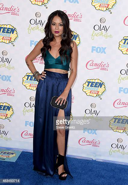 Actress Janel Parrish attends FOX's 2014 Teen Choice Awards at The Shrine Auditorium on August 10 2014 in Los Angeles California