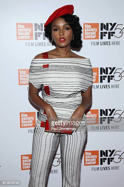 Actress Janelle Monae attends the Moonlight premiere during the 54th New York Film Festival at Alice Tully Hall Lincoln Center on October 2 2016 in...