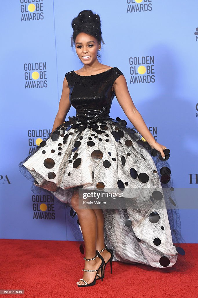 Actress Janelle Monae of 'Moonlight,' winner of Best Motion Picture - Drama, poses in the press room during the 74th Annual Golden Globe Awards at The Beverly Hilton Hotel on January 8, 2017 in Beverly Hills, California.
