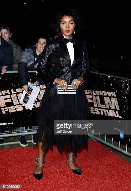Actress Janelle Monáe attends the 'Moonlight' Official Competition screening during the 60th BFI London Film Festival at Embankment Garden Cinema on...