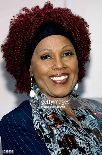 Actress Ja''net Dubois attends the TV Cares Ribbon of Hope Awards April 27 2002 in Los Angeles CA Actress Tyne Daly was honored at the event with the...