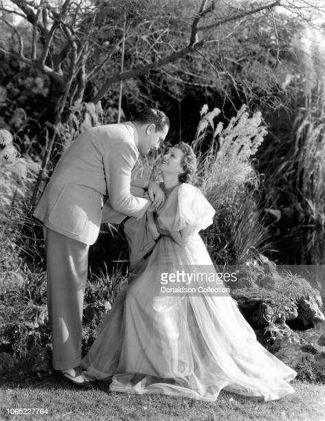 Actress Janet Gaynor and Fredric March in a scene from the movie A Star Is Born