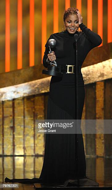 Actress Janet Jackson accepts the Outstanding Supporting Actress in a Motion Picture award for Tyler Perry's Why Did I Get Marriedonstage during the...