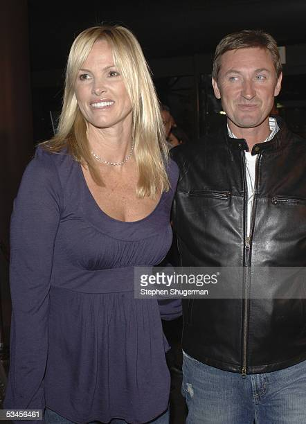 Actress Janet Jones and husband former hockey player Wayne Gretzky attend the world premiere of Dirty Deeds at the Directors Guild of America on...