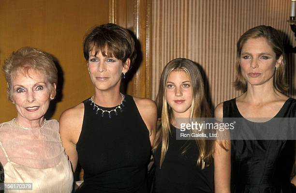 Actress Janet Leigh actress Jamie Lee Curtis and daughter Annie Guest and Kelly Curtis attend the University of the Pacific's Pantheon of the Arts...