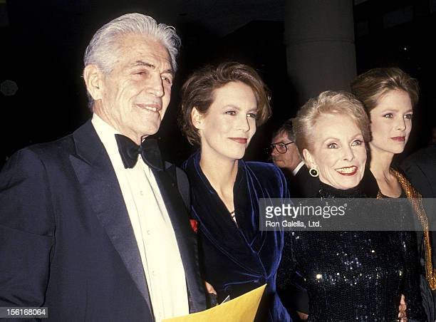 Actress Janet Leigh and husband Robert Brandt her daughters actress Jamie Leigh Curtis and Kelly Curtis attend the 10th Annual American Cinema Awards...