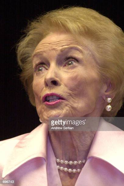Actress Janet Leigh speaks at a book signing of her new book The Dream Factory February 12 2002 in New York City Leigh starred in the Alfred...