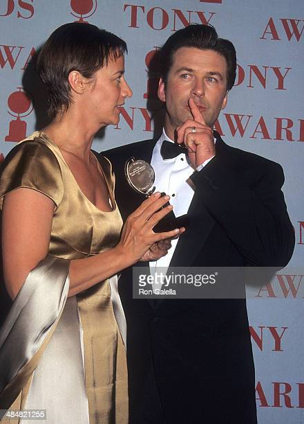 Actress Janet McTeer and actor Alec Baldwin attend the 51st Annual Tony Awards on June 1 1997 at Radio City Music Hall in New York City