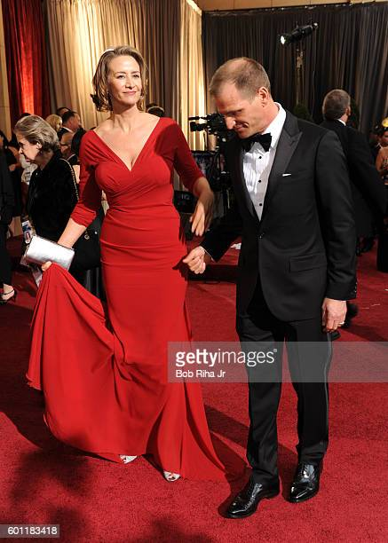 Actress Janet McTeer and her husband Joe Coleman walk on the red carpet at the Hollywood Highland Center Theatre during the 84th Academy Awards...
