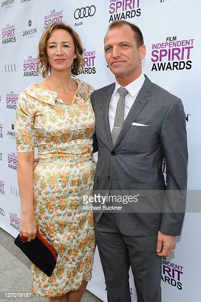 Actress Janet McTeer and Joe Coleman arrive at the 2012 Independent Spirit Awards Filmmaker Grant and Nominee Brunch held at BOA Steakhouse on...