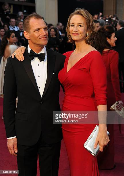 Actress Janet McTeer and Joe Coleman arrive at the 84th Annual Academy Awards held at the Hollywood Highland Center on February 26 2012 in Hollywood...