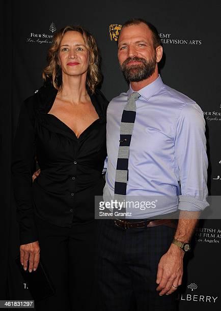 Actress Janet McTeer and Joe Coleman arrive at the BAFTA Los Angeles Awards Season Tea Party at the Four Seasons Hotel Los Angeles at Beverly Hills...