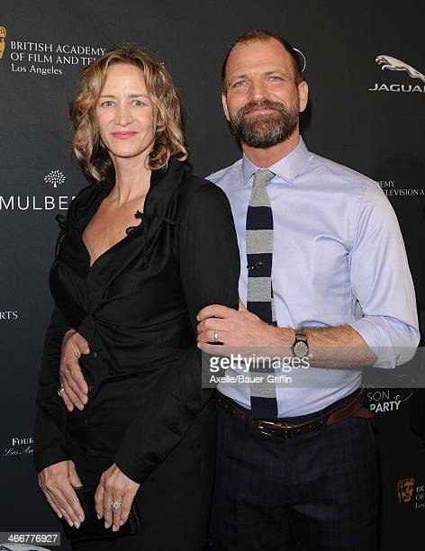 Actress Janet McTeer and Joe Coleman attend the BAFTA LA 2014 Awards Season Tea Party at Four Seasons Hotel Los Angeles in Beverly Hills on January...