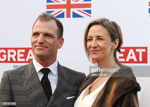 Actress Janet McTeer and Joe Coleman attends the GREAT British Film Reception to honor the British nominees of The 84th Annual Academy Awards at the...