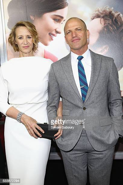 Actress Janet McTeer and Joe Coleman attends the world premiere of Me Before You at AMC Loews Lincoln Square 13 theater on May 23 2016 in New York...