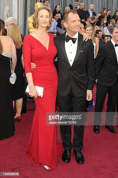 Actress Janet McTeer and Joe Colman arrives at the 84th Annual Academy Awards held at the Hollywood Highland Center on February 26 2012 in Hollywood...