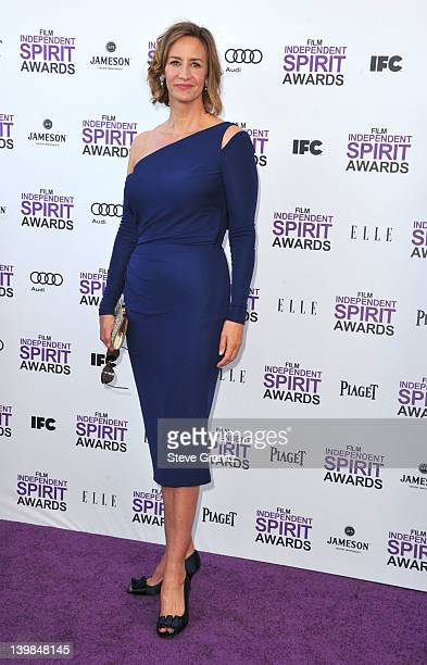 Actress Janet McTeer arrives at the 2012 Film Independent Spirit Awards at Santa Monica Pier on February 25 2012 in Santa Monica California