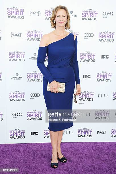 Actress Janet McTeer arrives at the 2012 Film Independent Spirit Awards on February 25 2012 in Santa Monica California