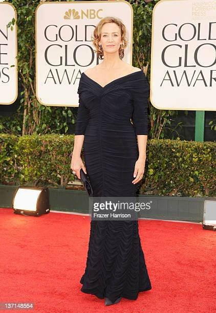 Actress Janet McTeer arrives at the 69th Annual Golden Globe Awards held at the Beverly Hilton Hotel on January 15 2012 in Beverly Hills California