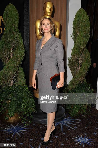 Actress Janet McTeer arrives at the 84th Annual Academy Awards Nominees Luncheon at The Beverly Hilton hotel on February 6 2012 in Beverly Hills...