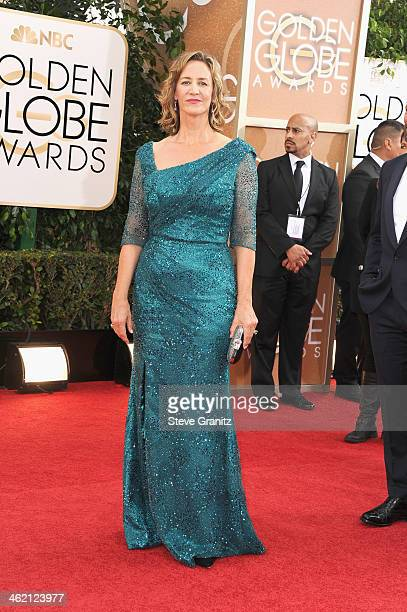 Actress Janet McTeer attends the 71st Annual Golden Globe Awards held at The Beverly Hilton Hotel on January 12 2014 in Beverly Hills California