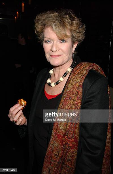 Actress Janet Suzman attends the aftershow party following the VIP Opening Night at the Comedy Theatre of Whose Life Is It Anyway starring Kim...