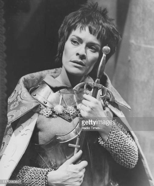 Actress Janet Suzman in the BBC television 'Play of the Month' episode 'St Joan' April 11th 1968