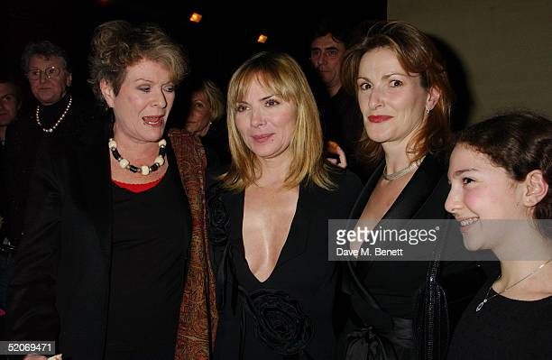 Actress Janet Suzman, Kim Cattrall, Nicola Frei and her daughter attend the aftershow party following the VIP Opening Night at the Comedy Theatre of...
