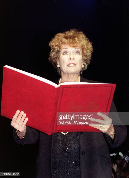 Actress Janet Suzman reading extracts from Peter Pan by JM Barrie on stage at the Duke of York's Theatre in London during a celebrity gala...