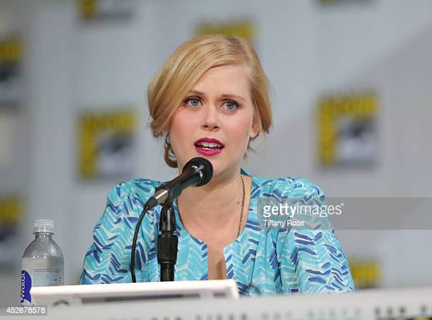 Actress Janet Varney speaks at the Legend of Korra panel at the 2014 San Diego ComicCon International Day 3 on July 25 2014 in San Diego California