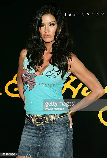 Actress Janice Dickenson attends the Christian Audigier Fashion Show launching Ed Hardy Vintage Tattoo Wear held in Hollywood on May 21,2005 Los...