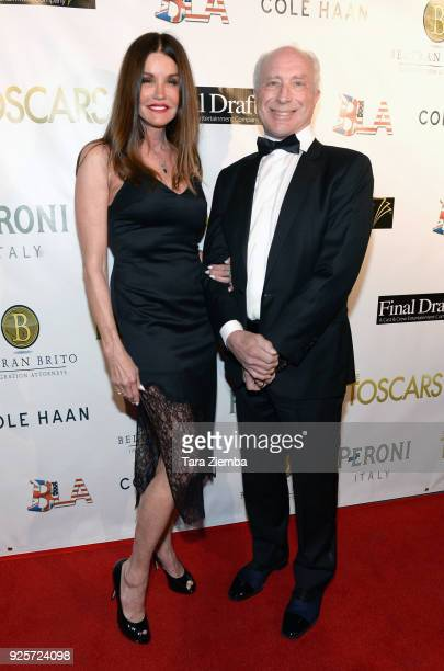 Actress Janice Dickinson and Dr. Robert 'Rocky' Gerner attend The 2018 Toscars at The Renberg Theatre on February 28, 2018 in Los Angeles, California.