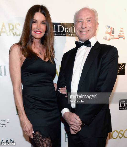Actress Janice Dickinson and Dr Robert 'Rocky' Gerner attend The 2018 Toscars at The Renberg Theatre on February 28 2018 in Los Angeles California