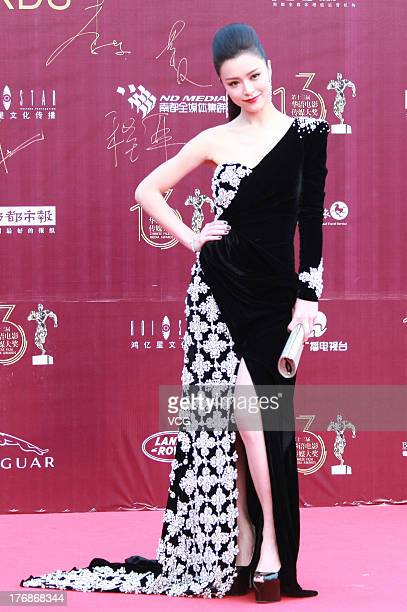 Actress Janice Man attends the 13th Chinese Film Media Awards at Quanzhou Strait Sports Center on August 18 2013 in Quanzhou China