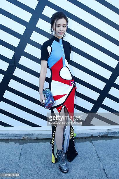 Actress Janice Man attends the Louis Vuitton show as part of the Paris Fashion Week Womenswear Spring/Summer 2017 on October 5 2016 in Paris France