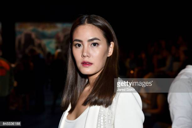 Actress Janie Tienphosuwan at the Vivienne Tam SS 2018 Runway Show at Gallery 1 Skylight Clarkson Sq on September 10 2017 in New York City