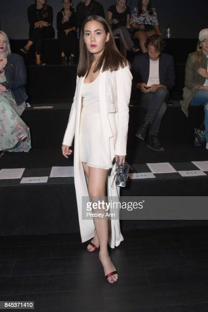 Actress Janie Tienphosuwan attends the Vivienne Tam SS 2018 Runway Show at Gallery 1 Skylight Clarkson Sq on September 10 2017 in New York City