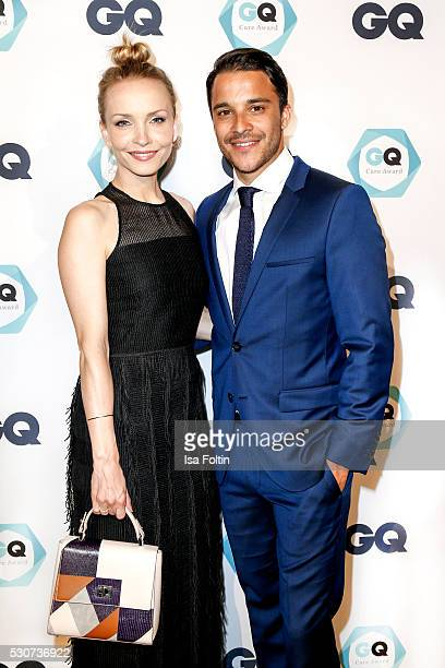 Actress Janin Ullmann and her partner actor and GQ Care award winner as bestmaintained celebrity Kostja Ulmann wearing Hugo Boss during the GQ Care...