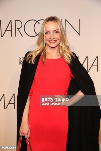 Actress Janin Ullmann during the Marc Cain Fashion Show Berlin Autumn/Winter 2018 at metro station Potsdamer Platz at on January 16 2018 in Berlin...