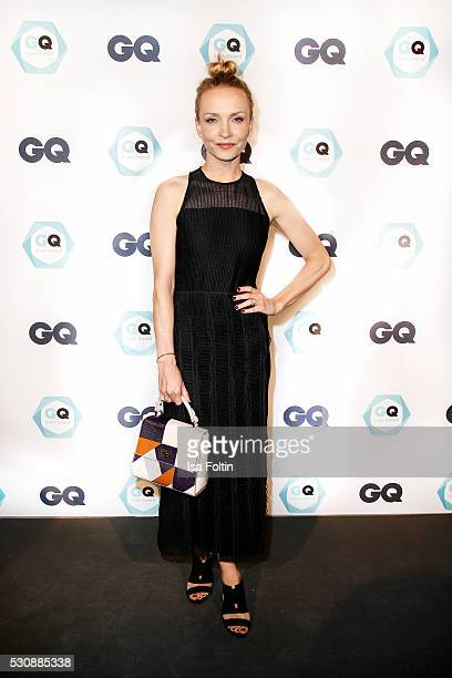 Actress Janin Ullmann, wearing a dress by Hugo Boss attends the GQ Care Award 2016 at The Grand on May 11, 2016 in Berlin, Germany.