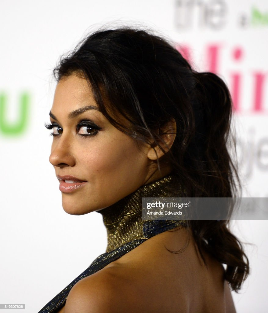 Actress Janina Gavankar arrives at Hulu's 'The Mindy Project' Final Season Premiere Party at The London West Hollywood on September 12, 2017 in West Hollywood, California.
