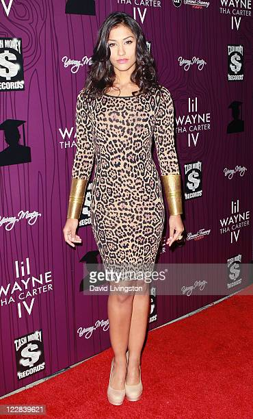 Actress Janina Gavankar attends Cash Money Records' Lil Wayne album release party for 'Tha Carter IV' at Boulevard3 on August 28 2011 in Los Angeles...