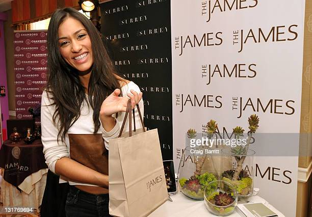 Actress Janina Gavankar attends the HBO Luxury Lounge in honor of the 68th Annual Golden Globe Awards at The Four Seasons Hotel on January 15 2011 in...