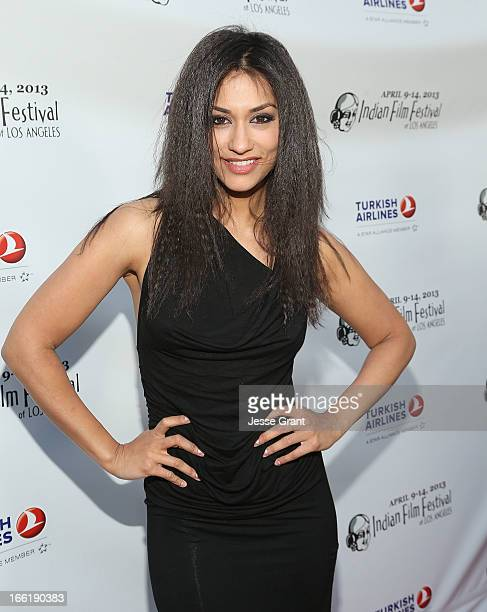 Actress Janina Gavankar attends the Indian Film Festival of Los Angeles Opening Night Gala for Gangs Of Wasseypur at ArcLight Cinemas on April 9 2013...