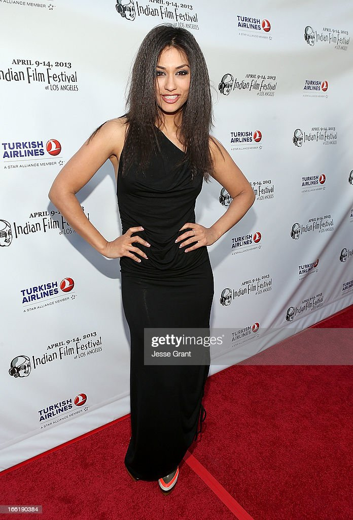 Actress Janina Gavankar attends the Indian Film Festival of Los Angeles (IFFLA) Opening Night Gala for 'Gangs Of Wasseypur' at ArcLight Cinemas on April 9, 2013 in Hollywood, California.