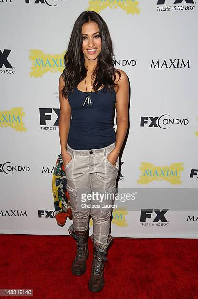 Actress Janina Gavankar attends the Maxim FX and Fox Home Entertainment ComicCon Party at Andaz on July 13 2012 in San Diego California